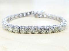 18KT White Gold 20-24 ct M-P VS/SI 4 Prong Tennis Bracelets