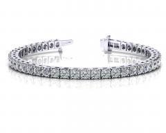 14KT White Gold 1 1/4 ct I-J SI3/I1 4 Prong Tennis Bracelets