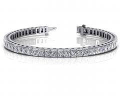 14KT White Gold 10.51ct G-H SI1/SI2 Fashion Bracelets