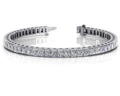14KT White Gold 7 ct G-H SI1/SI2 Fashion Bracelets